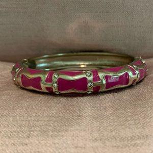 Sequin Pink Enamel Bracelet- Medium Width
